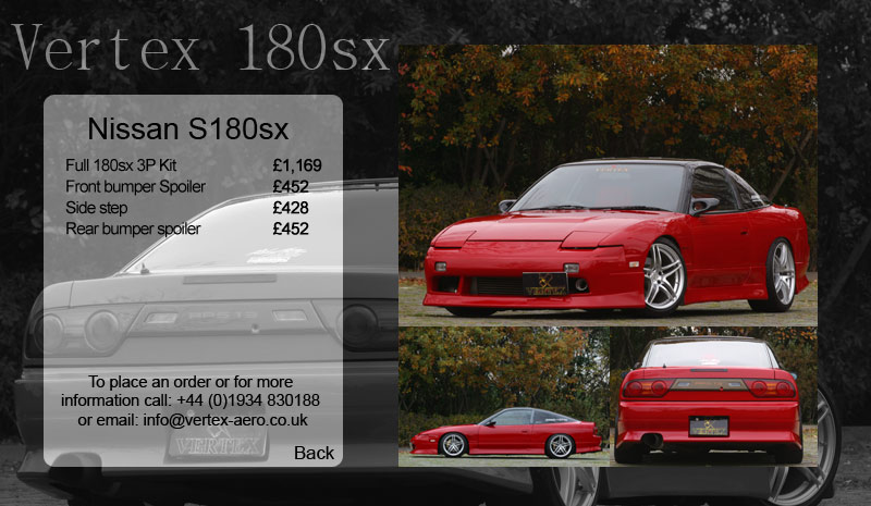 180sx or UK S13 Vertex Kit
